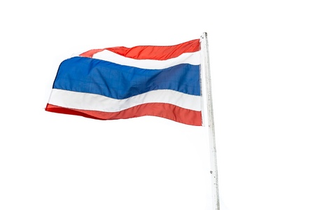 thailander: Thailand flag on white background
