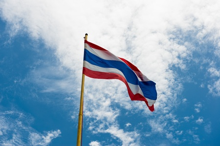 Thailand flag in the blue sky