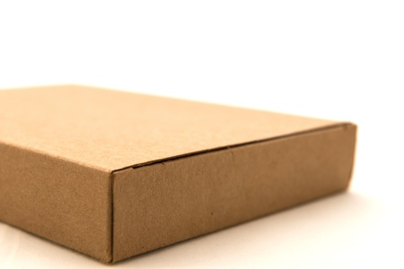 whitw: Brown paper box on whitw background