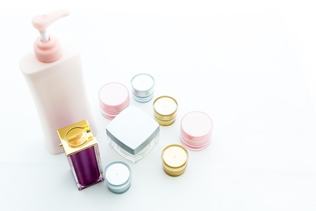 Cosmetic skin care on white background