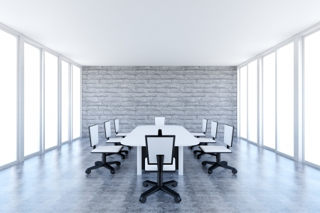 meeting room: Conference table and chairs in meeting room