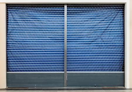 A blank metal shutter door photo