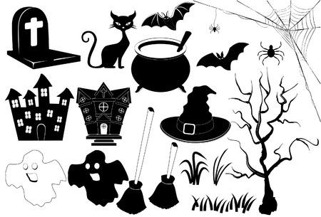 icon halloween Black   White Illusztráció