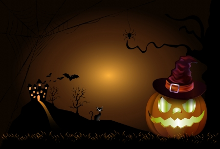 gnarled: The Halloween Background. EPS vector