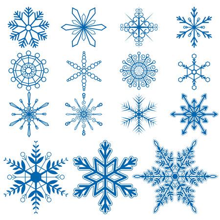 Snowflake set1 Vectors on white background