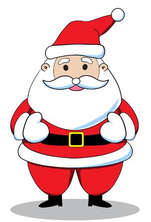 white bacjground: Santa claus on white background. Vector illustration
