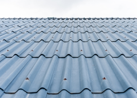 close up of tiles roof background photo
