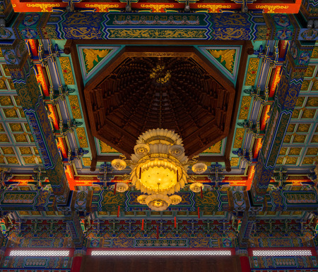 nonthaburi province: Lamp Chinese temple, Wat Leng-Noei-Yi in Nonthaburi province, Thailand