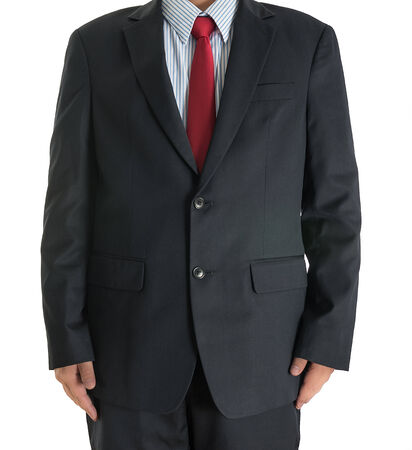 part of body businessman closeup on isolated white background photo