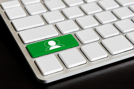 Chat  Button on Modern Computer Keyboard photo
