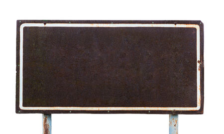 metal sheet: the old rusted iron plate on white background