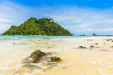 Beautiful beach at Talay Waek Krabi, Thailand photo