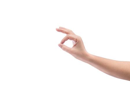 Hand gesture isolated on white background. photo