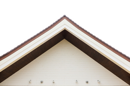 gabled: the Gabled houses is closeup Stock Photo