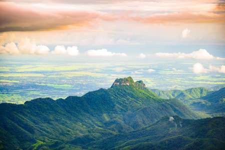 mountain and mist in Phu Thap Boek, Phetchabun Province, Thailand.