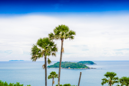 thep: Laem Phrom Thep is the most important and popular place of Phuket province Stock Photo