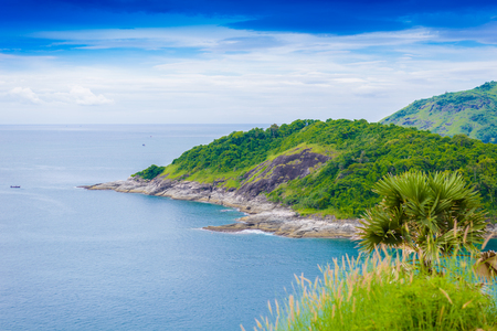 the place is important: Laem Phrom Thep is the most important and popular place of Phuket province Stock Photo