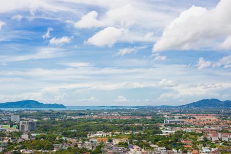 rang: Phuket Town top view from Rang Hill, viewpoint