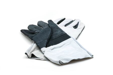 work gloves: protective work gloves isolated on white background