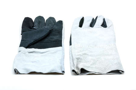 white work: protective work gloves isolated on white background