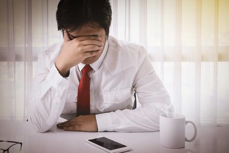 emotional grief: Business man Emotional Stress, Bankruptcy, Finance
