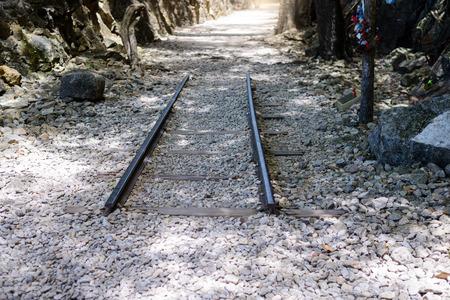 seconda guerra mondiale: Hellfire pass, Death Railway - The Second World War memorial in Kanchanaburi, Thailand.