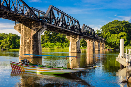 Kanchanaburi (Thailand), The Bridge on the River Kwai. Line Railway World War 2, Death Railway