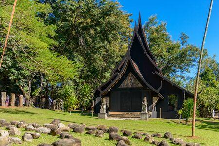 Chiang rai,THAILAND - November 23, 2016: BAANDAM (Black house) the thai style traditional wood design house museum by Thawan Duchanee in Chiang Rai, Thailand