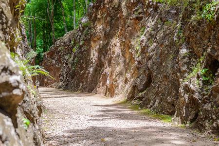 hellfire: Hellfire pass, Death Railway - The Second World War memorial in Kanchanaburi, Thailand.