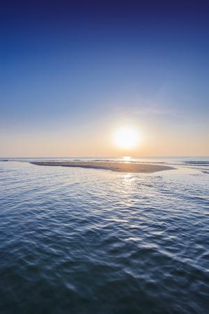 khan: Beautiful tropical sunrise on the beach at Hua Hin, Prachuap Khiri Khan, Thailand Stock Photo