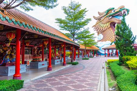 Suphanburi City Pillar Shrine at Suphanburi, Thailand on 10 June 2018.