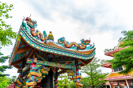 Ancient Chinese building style at Dragon Descendants Meseum in Suphanburi Thailand 写真素材 - 107652477