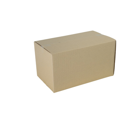 Cardboard boxes in different sizes stacked boxes isolated on white background Stok Fotoğraf