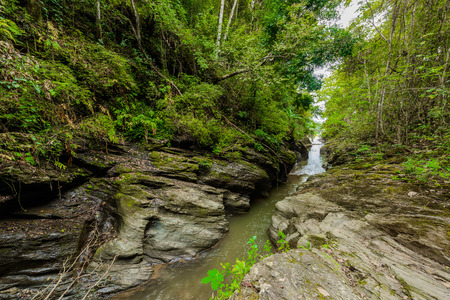"""Paysage du Grand Canyon du district de Pua, province de Nan, Thaïlande. Le nom est """"Wang Sila laeng"""" Unseen Tour Thailand"""