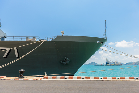 Close-up pictures of the Chakri Naruebet boat, battleship from the Thai port at Sattahip.