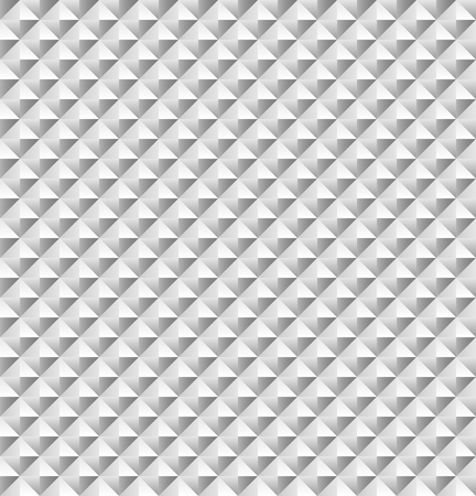 Volume realistic texture, gray 3d Diamond squares geometric pattern, design vector seamless Abstract background. use for wallpaper, webpage, tiling, layout Ilustração
