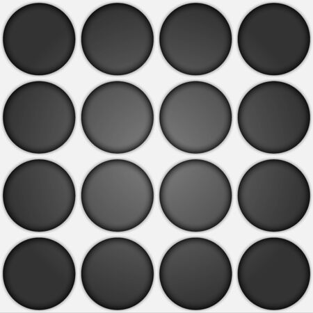 Volume realistic texture, gray 3d Circle geometric pattern, design vector seamless Abstract background. use for wallpaper, webpage, tiling, layout