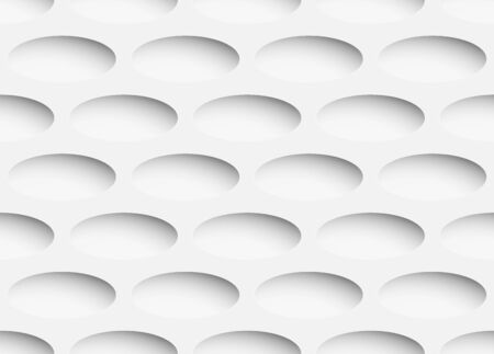 Volume realistic texture, gray 3d ellipse shape geometric pattern, design vector seamless Abstract background. use for wallpaper, webpage, tiling, layout Imagens