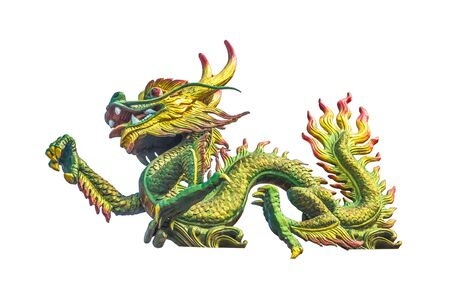 chinese temple: Dragon statue on the Chinese temple roof