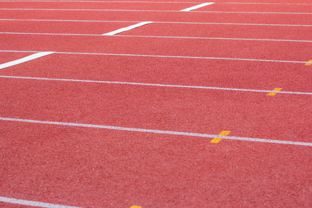 athletics track: Yard line, running track, athletics track, a red, white ground.