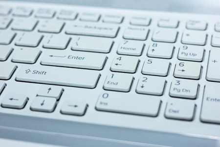 1 object: Close up of keyboard of a modern laptop