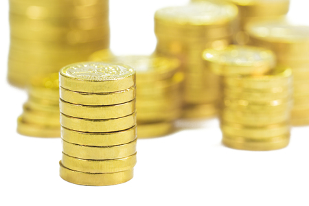 dosh: Group of gold coins business money