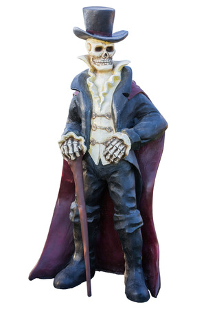 hollows: Pirate ghost statue isolate on white background.