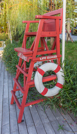 life guard: Life Guard Tower on the Swimming Pool