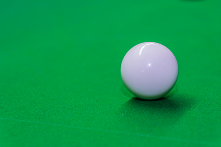 pool table: Snooker ball on snooker table