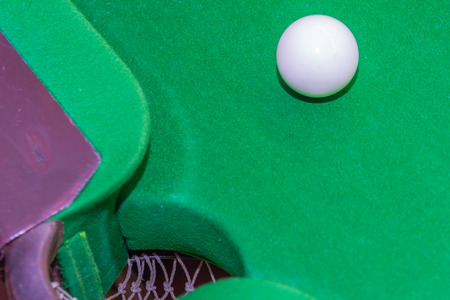snooker: Snooker ball on snooker table