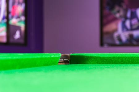 billard: pit of corrner table snooker Stock Photo