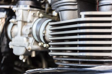 chromed: Closeup of chromed motorcycle engine
