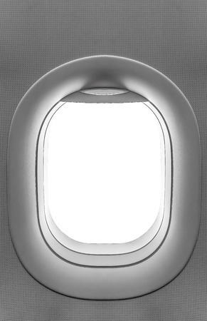 has been: Airplane window. View has been removed from the image
