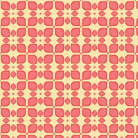 muted: Seamless flower pattern background Illustration